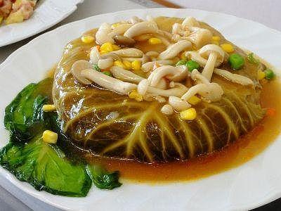 きのこ・野菜たっぷり きゃべつケーキ