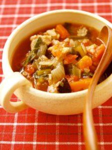 夏野菜ときのこを食べるジューシースープ
