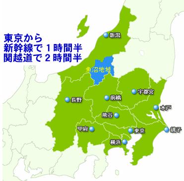新潟県の南部で、群馬、長野、福島県に接する地域です
